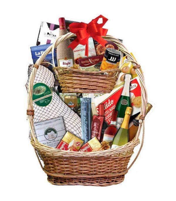 Presentación de cestas de navidad para sortear 27 A