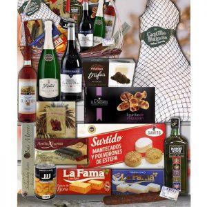 Cesta de navidad con Whisky Passport y Paleta de Jamón Serrano 23a