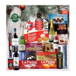 Baúl con productos navideños 30